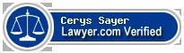Cerys Eleanor Sayer  Lawyer Badge