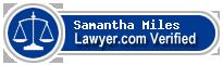 Samantha Jane Miles  Lawyer Badge