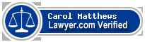 Carol Anne Matthews  Lawyer Badge