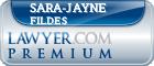 Sara-Jayne Fildes  Lawyer Badge