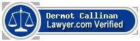 Dermot Martin Callinan  Lawyer Badge