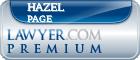 Hazel Page  Lawyer Badge