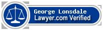 George James Stanley Lonsdale  Lawyer Badge