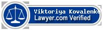 Viktoriya A. Kovalenko  Lawyer Badge
