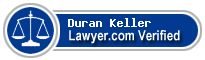 Duran Lawrence Keller  Lawyer Badge