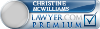 Christine Elizabeth Mcwilliams  Lawyer Badge