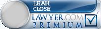 Leah Jean Close  Lawyer Badge