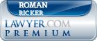 Roman Joe Ricker  Lawyer Badge