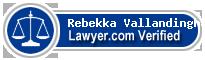 Rebekka J. Vallandingham  Lawyer Badge