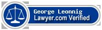 George M Leonnig  Lawyer Badge