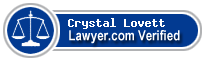 Crystal Grace Lovett  Lawyer Badge