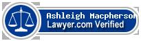 Ashleigh Lauren Macpherson  Lawyer Badge