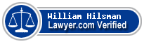William Ashby Roux Hilsman  Lawyer Badge