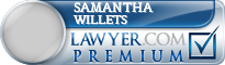 Samantha Suzanne Willets  Lawyer Badge