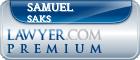 Samuel Saks  Lawyer Badge