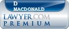 D Lloyd Macdonald  Lawyer Badge