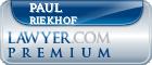 Paul Riekhof  Lawyer Badge