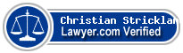 Christian Janet Strickland  Lawyer Badge