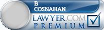 B Calvin Cosnahan  Lawyer Badge