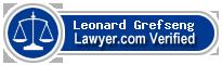 Leonard Robert Grefseng  Lawyer Badge