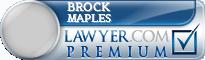 Brock Michael Maples  Lawyer Badge