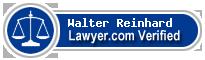 Walter G Reinhard  Lawyer Badge