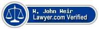 W. John Weir  Lawyer Badge