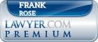 Frank H Rose  Lawyer Badge