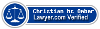 Christian V Mc Omber  Lawyer Badge