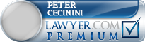 Peter Cecinini  Lawyer Badge
