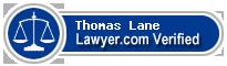 Thomas Douglas Lane  Lawyer Badge