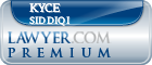 Kyce Siddiqi  Lawyer Badge