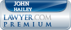 John Crockett Hailey  Lawyer Badge