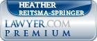 Heather Reitsma-springer  Lawyer Badge