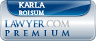 Karla J James Roisum  Lawyer Badge