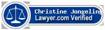 Christine Susan Jongeling  Lawyer Badge