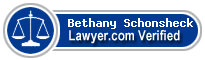 Bethany L. Schonsheck  Lawyer Badge