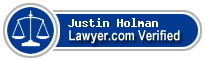 Justin T Holman  Lawyer Badge