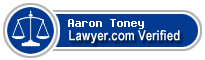 Aaron Scott Toney  Lawyer Badge