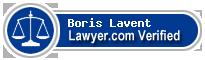 Boris Lavent  Lawyer Badge