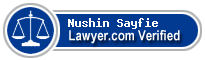 Nushin G Sayfie  Lawyer Badge