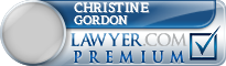 Christine Gordon  Lawyer Badge