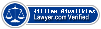 William E Aivalikles  Lawyer Badge