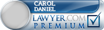 Carol Vogel Daniel  Lawyer Badge