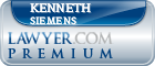 Kenneth Eric Siemens  Lawyer Badge