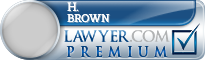 H. Cubbage Brown  Lawyer Badge