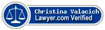 Christina N Valacich  Lawyer Badge