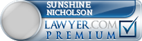 Sunshine Mildred Nicholson  Lawyer Badge