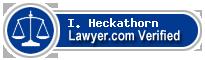 I. James Heckathorn  Lawyer Badge