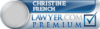 Christine Patricia Lee French  Lawyer Badge